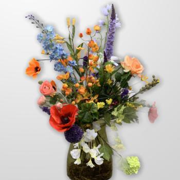 Veldboeket zijden bloemen