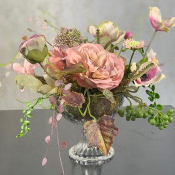 biedermeier zijden bloemen
