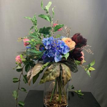 zijden bloemen boeket