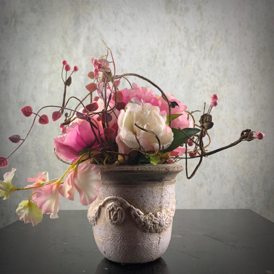 zijden bloemstukje