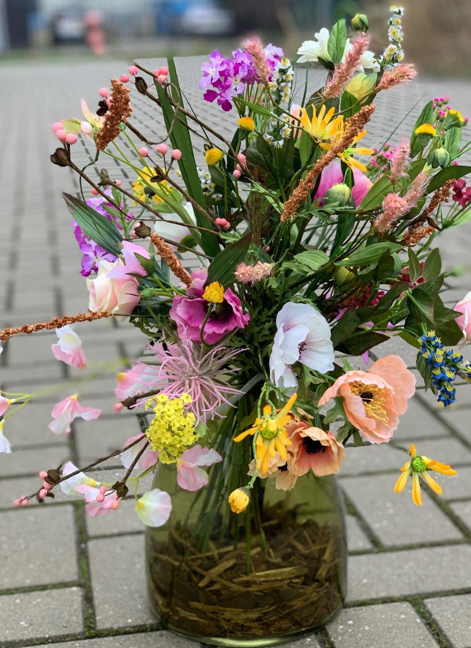 weiland zijden bloemen boeket